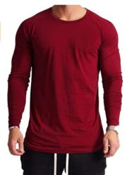 Magiftbox Mens Lightweight Cotton Workout Long Sleeve T-Shirts